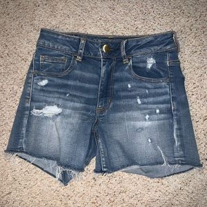 American Eagle Distressed Denim Shorts Size 2